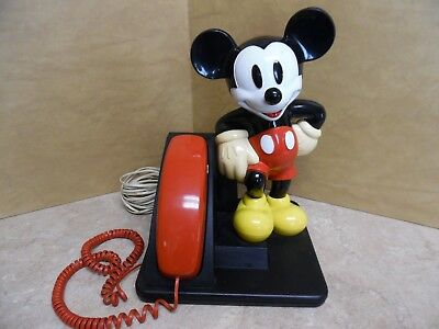 Disney 1990's At&t Mickey Mouse Push Button Telephone - Ships Free Immediately!!