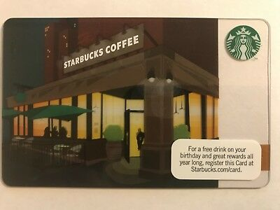 2011 Starbucks Gift Card Twilight Storefront Pin Intact No Stored Value 6069