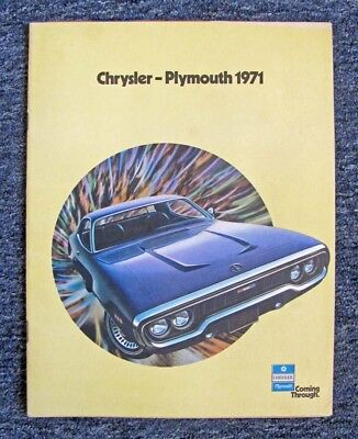 1971 Chrysler-Plymouth Catalog Duster, Barracuda, Valiant, Satellite + / 24 Pgs.