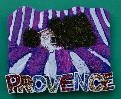 Souvenir Fridge Magnet Provence House In A Field Of Lavender South Of France