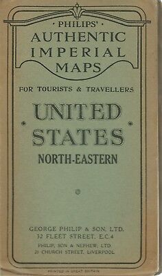 United States - North-Eastern - Philips' Authentic Imperial Maps 1920 circa