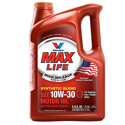 Valvoline High Mileage with MaxLife Technology 10W-30 Synthetic Blend Motor Oil