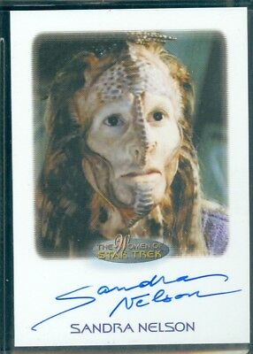 Women of Star Trek  50th Anniversary Sandra Nelson as Marayna  Auto Card