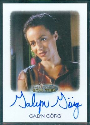Women of Star Trek  50th Anniversary Galyn Gorg as Korena Sisko Auto Card