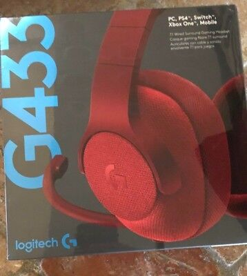 Logitech G433 7 1 Wired Gaming Headset With Dts Headphone X 7 1