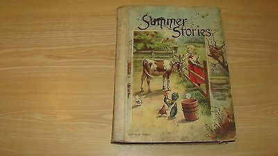 1891  Summer Stories  Children's Book  Hc Illustrated Stories And Poems 240+ Pgs