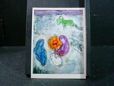 """NobleSpirit NO RESERVE {3970}Marc Chagall Signed Print """"The Green Horse"""""""