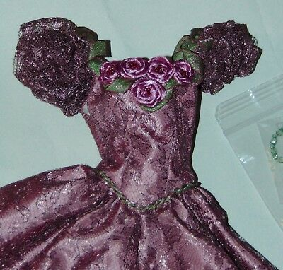 OOAK OUTFIT KITTY COLLIER Lavender Lace & Roses WS Doll FASHION