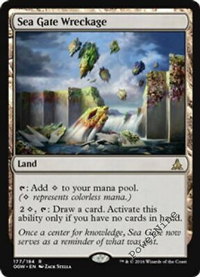 1 FOIL Sea Gate Wreckage - Land Oath of the Gatewatch Mtg Magic Rare 1x x1