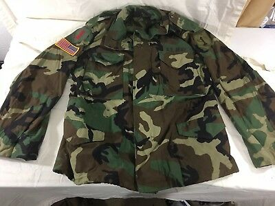 BDU Field Jacket, Desert Storm w/ Patches US Army M-65 Medium-Short, EXCEPTIONAL