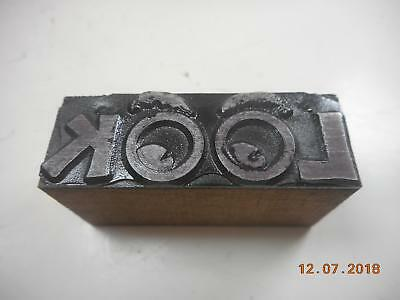 Printing Letterpress Printers Block, Decorative Word Look, Printer Cut