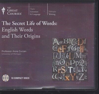 THE SECRET LIFE OF WORDS by THE GREAT COURSES ~ UNABRIDGED CD AUDIOBOOK