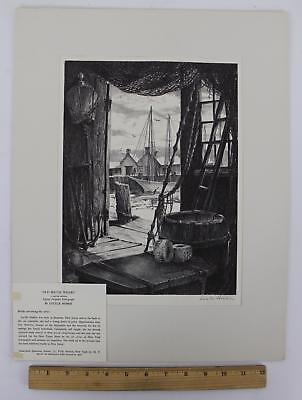 Authentic Pencil Signed Lucille Hobbie Old South Wharf Nantucket Lithograph