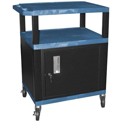 Tuffy 34 in. Utility Cart with Locking Cabinet