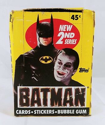 Batman Movie 1989 2nd Second Series Trading Cards Box 36 Unopened Packs NEW