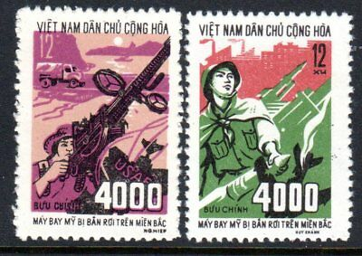 1972 NORTH VIETNAM 4000th US AIRCRAFT SHOT DOWN SGN712-713 mint no gum as issued