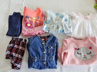 Baby Girl Clothes 10 pc Mixed Lot 6-12 mo EUC Tommy Hillfiger Carters Healthtex
