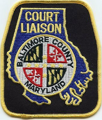 BALTIMORE COUNTY MARYLAND MD COURT LIAISON sheriff police PATCH
