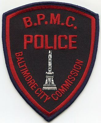 Baltimore City Maryland Md Public Markets Police Patch