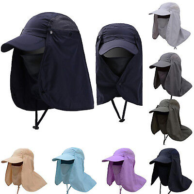 Womens Mens Legion Legionnaire Hats Neck Flap Cap Summer Sun Hat Fishing Golf