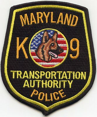 Maryland Md State Transportation Authority K-9 Police Patch