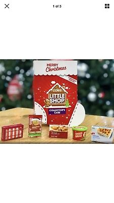 Coles Little Shop Mini Collectables Christmas Edition Case And FULL SET Minis