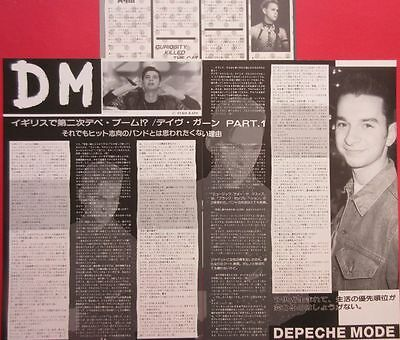 1989 DEPECHE MODE Dave Gahan CLIPPING JAPAN MAGAZINE N4 V16 3PAGE