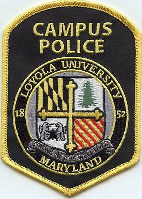 new style LOYOLA UNIVERSITY MARYLAND MD CAMPUS POLICE PATCH