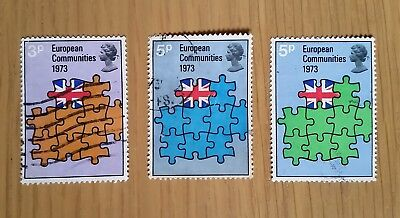 Complete used GB stamp set - 1973 Britain's Entry into European Community