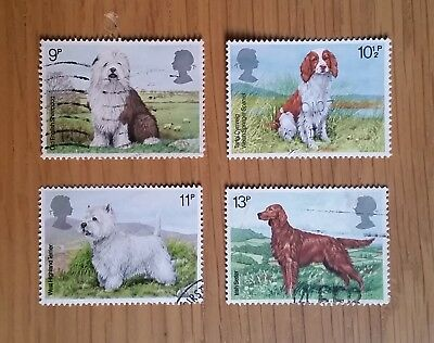 Complete GB used stamp set: 1979 Dogs