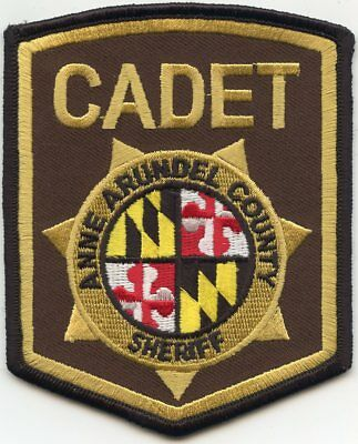 Anne Arundel County Maryland Md Cadet Sheriff Police Patch
