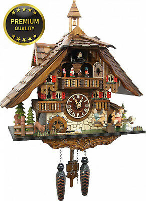 LARGE German Cuckoo Clock - The Seesaw Mill Chalet - BY CUCKOO-PALACE with...