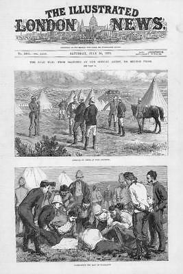 1879 Antique Print - ZULU WAR FORT PEARSON NEWS ARRIVAL MAP CONSULTATION (192)
