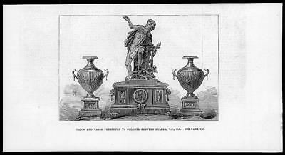 1879 Antique Print - CLOCK VASES COLONEL REDVERS BULLER (18)
