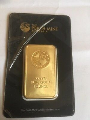 Verkaufe Goldbarren 1 oz Gold 99,99  Perth Mint im Original Blister