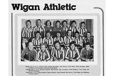 Wigan Athletic Football Team Photo>1979-80 Season