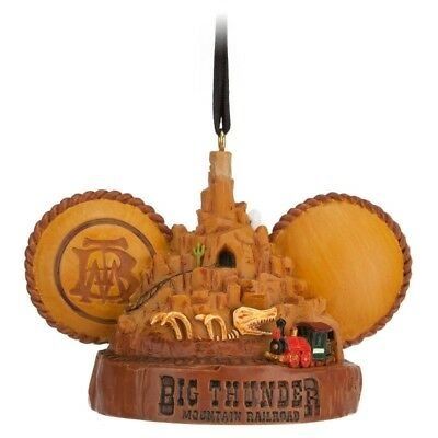 Disney Parks Big Thunder Mountain Railroad Ear Hat Ornament NEW with tags