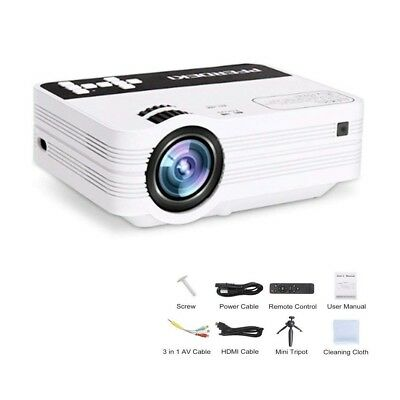 MINI PROJECTOR,2500Lumens Video Projector with 176 Inch Full HD 1080P Support...