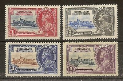 Somaliland 1935 Silver Jubilee SG86-89 Mint Cat£16