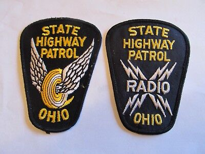 Ohio State Highway Patrol Patch Old Cheese Cloth & Radio