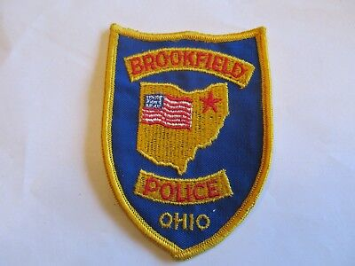 Ohio Brookfield Police Patch Old Cheese Cloth