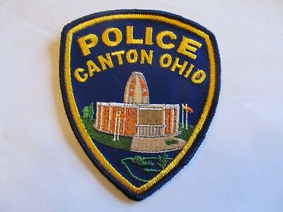 Ohio Canton Police Patch Old Cheese Cloth