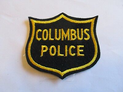Ohio Columbus Police Patch Old Felt Cheese Cloth