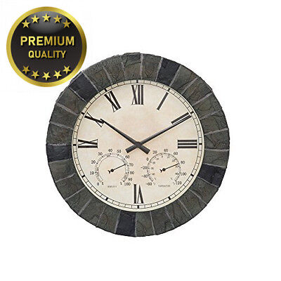 KCT Outdoor Mosaic Effect Wall Mounted Clock