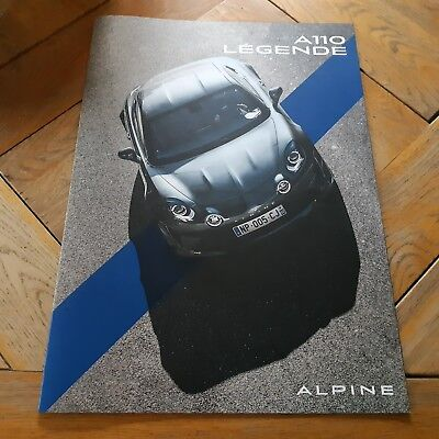 Brochure ALPINE A110 Légende 10/2018 : catalogue 16 pages, 51 x 36 cm, FR + GB