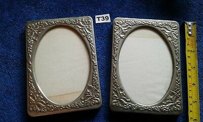 Vintage Pair Silver Plate Picture Frames