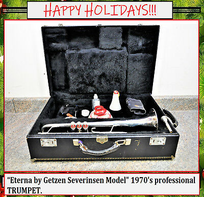Eterna by Getzen Severinsen Model 1970's professional TRUMPET.  Fast Shipping!