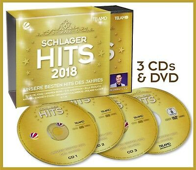 """Various Artists """"Schlager Hits 2018"""" Deluxe Edition 3CD + DVD Set NEU 85 Titel"""