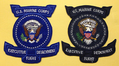 US Vintage Insignia 2 Marine Corps Executive Flight Patches 1 Original 1 Repro |