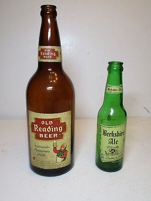 Old Reading Brewery, Reading PA Beer Quart and Berkshire Ale 8oz Bottles